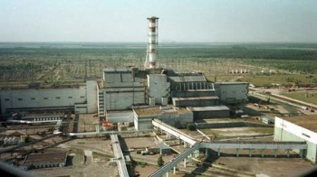 Central nuclear de Chernobyl antes del accidente nuclear